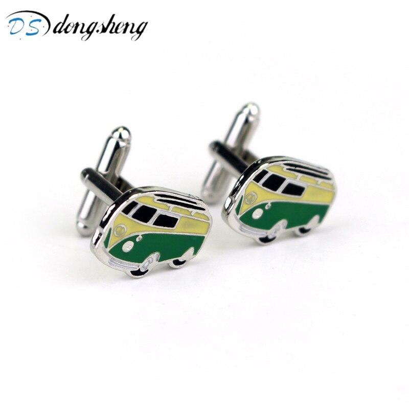 dongsheng Fashion Camper Van Cufflinks VW T1 Bus Car Kombi Combi Novelty Alloy Cuff Links For Mens Wedding Jewelry-40 dongsheng m8
