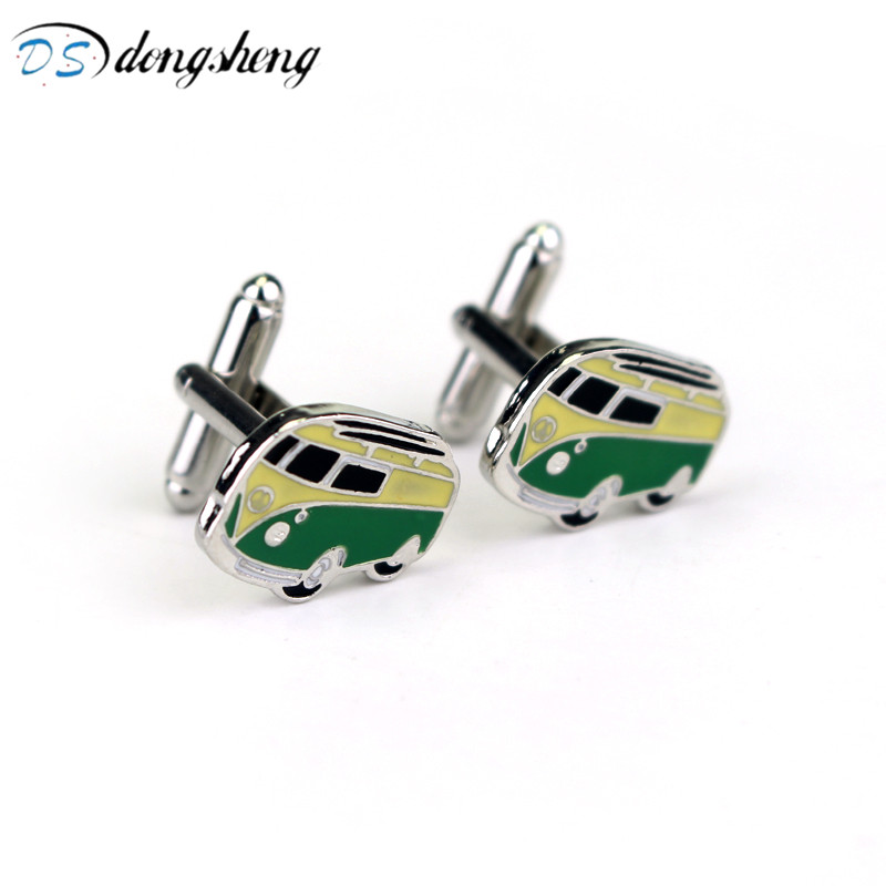 dongsheng Fashion Camper Van Cufflinks VW T1 Bus Car Kombi Combi Novelty Alloy Cuff Link ...
