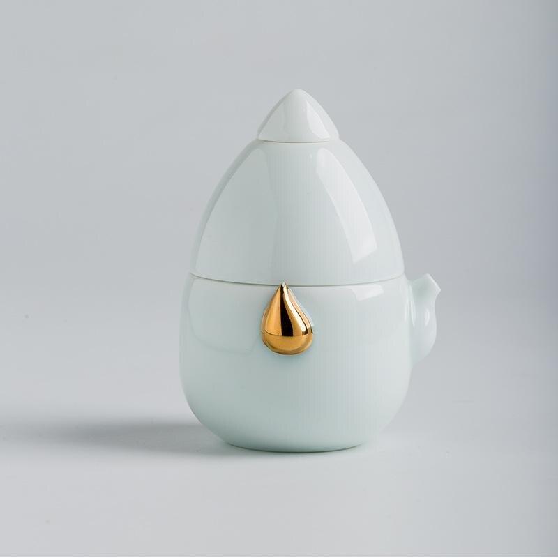 Ensembles de thé en porcelaine osseuse théière en céramique bouilloire Gaiwan tasse de thé Portable ensemble de thé chinois Kung Fu ensembles de thé