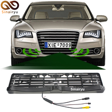 Sinairyu Universal License Plate Frame Auto Front camera Car Rearview Reverse Camera With Two Parking Sensors Reversing Radar