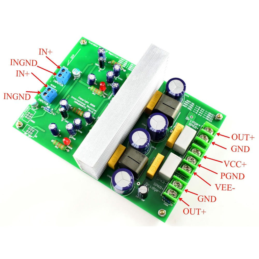 L15DX2 IRS2092 Class D Amplifier Finished Board Two Channel IRAUDAMP7S 125 500W LJM|Amplifier|   - title=