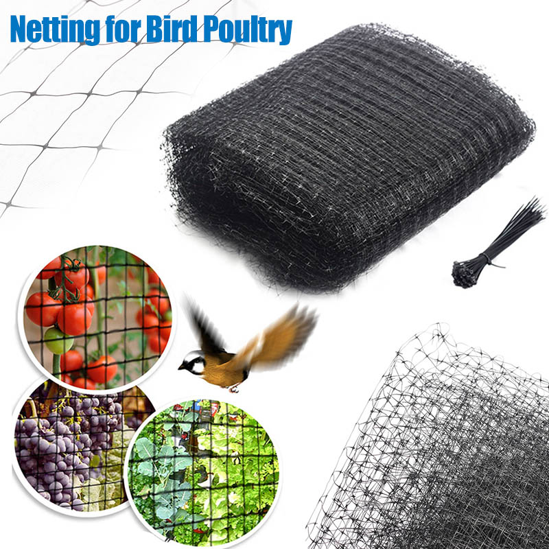 Anti Bird Netting Reusable Mesh Nylon Garden Net Preventing Birds Squirrels Rats 66CY