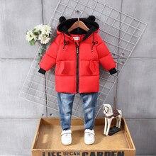 font b kids b font winter font b jacket b font Boys red coats font
