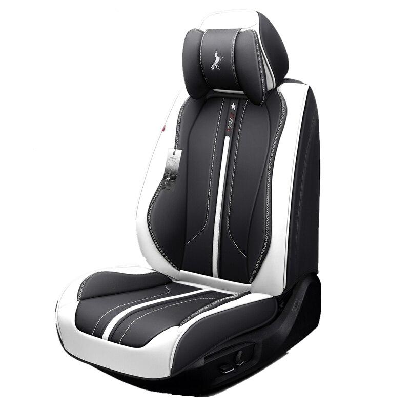 Housse de siège de voiture, (avant + arrière) nouveau coussin de siège universel, cuir Senior, nouveau style de voiture de Sport, style de voiture pour berline SUV