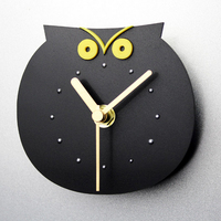 021281 adorno Doméstico coruja bonito ímãs de geladeira criativo supe post relógio de parede