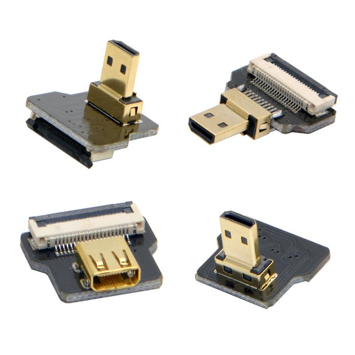 FPV Micro HDMI Type D Connector Adapter Plug& Socket For FPV Multicopter Aerial Photography GoPro GH4 BMPCC A5000 A6000 A7R A7S