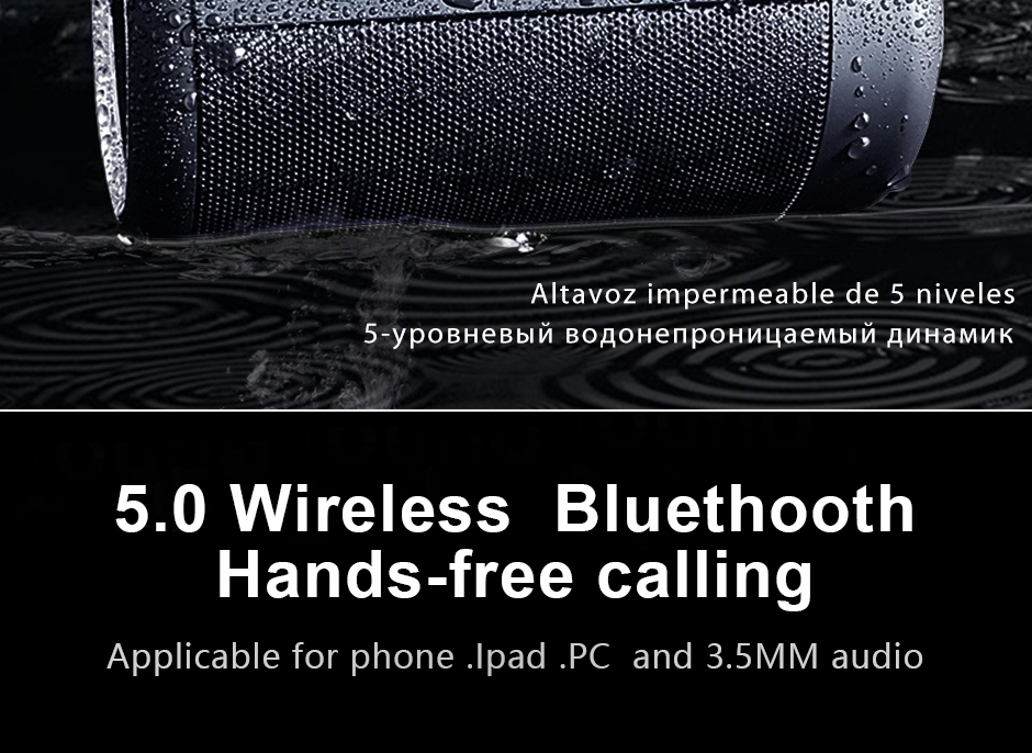 Opruide HiFi Waterproof Portable Bluetooth Speaker With 3D Stereo Music Surround And AUX For Smartphone 9