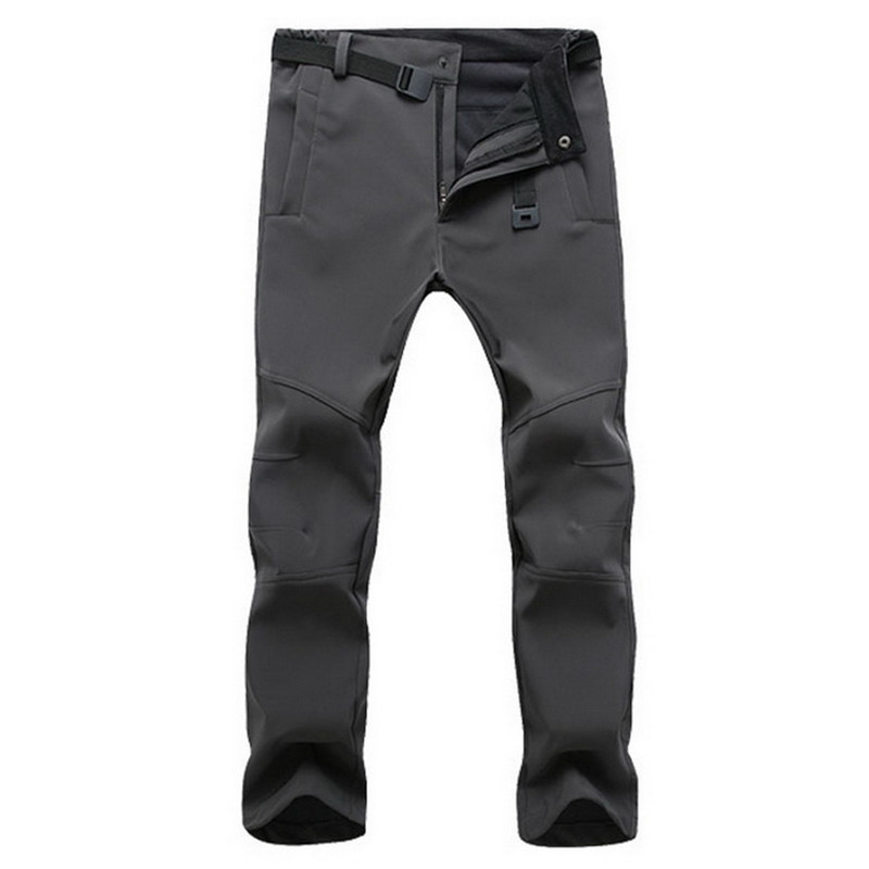 Tactical Cargo Pants Men Winter Fleece Stretch Waterproof Pants Thick Warm Casual Shark Skin Trousers Mens Hiking Trekking Pants