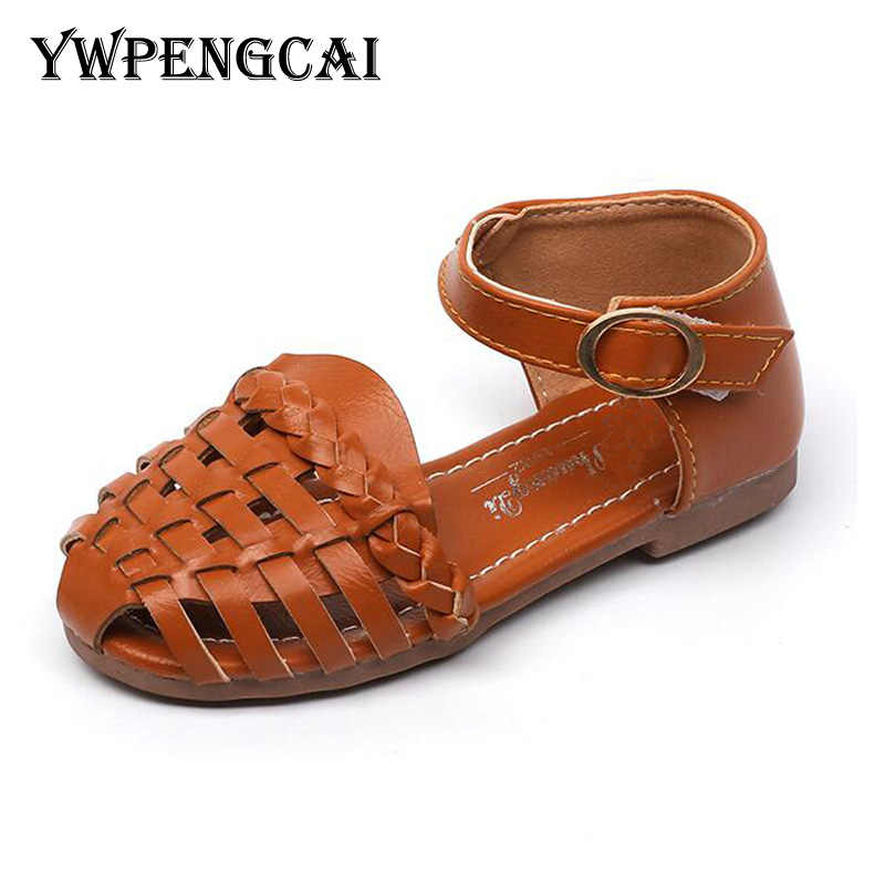 YWPENGCAI 2020 ฤดูร้อนเด็กทารกเด็กวัยหัดเดินรองเท้าแตะถัก CUT-outs เด็กรองเท้าแตะสไตล์ Bohemian รองเท้าแตะขนาด 21-35
