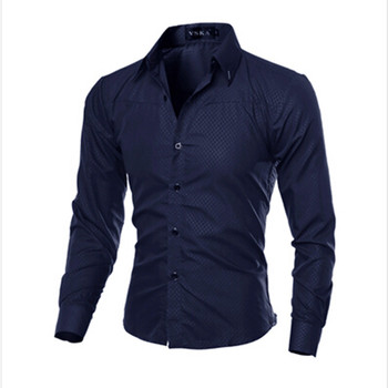 Hot Sale 2019 Plus Size Men Slim Fit Striped Shirt Men Long Sleeve Mens Dress Shirts Camisa Social Masculina M-5XL