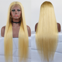 Eversilky Hair # 613 Blonde Human Hair Front Lace Wigs With Baby Hair Straight Peruvain Remy Human Hair Glueless Lace Front Wig