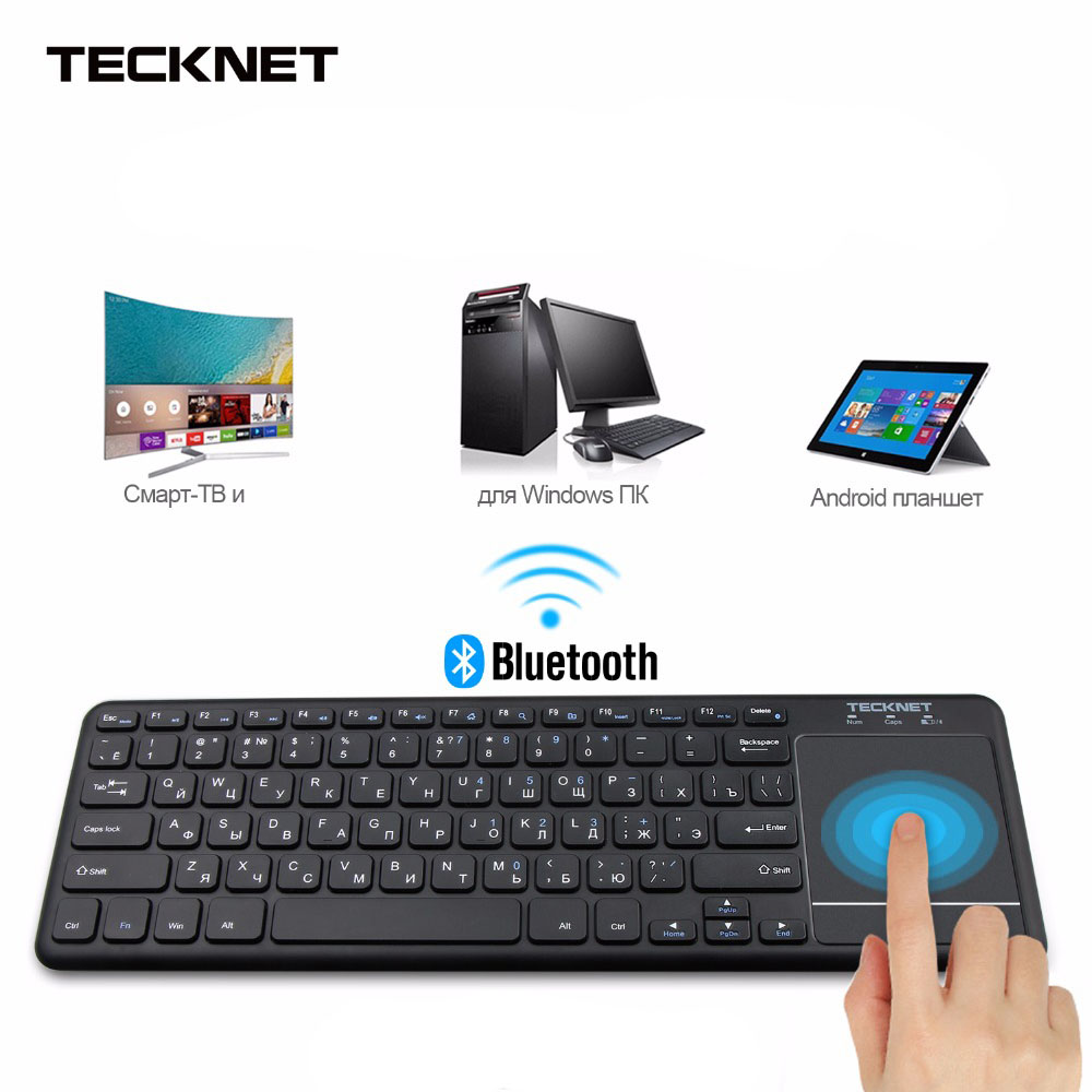 Mini Wireless Bluetooth Touch Russian Keyboard with Touchpad for Windows PC Smart TV Android OS Tablet NO Bluetooth Receiver russian ru keyboard for samsung 300v5a 305v5a np300v5a with speaker and touchpad