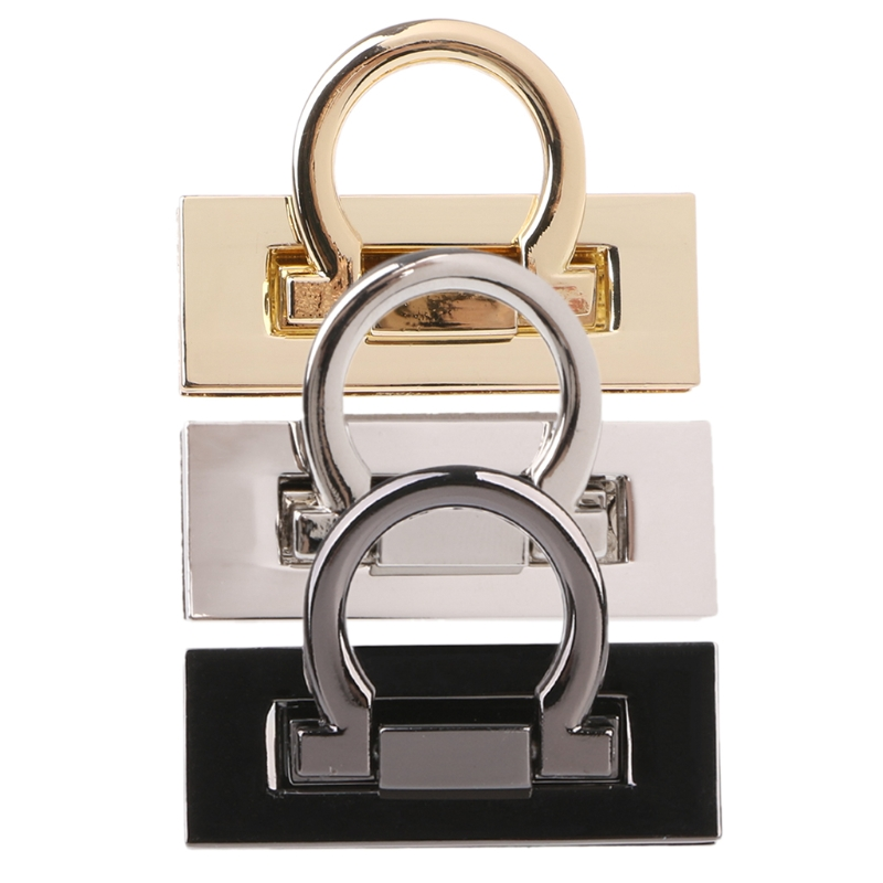 Metal Clasp Turn Twist Lock For DIY Craft Shoulder Bag Purse Handbag Hardware