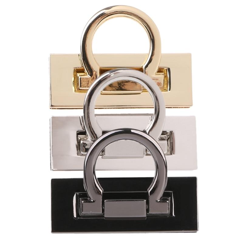 Metal Clasp Turn Twist Lock For DIY Craft Shoulder Bag Purse Handbag Hardware