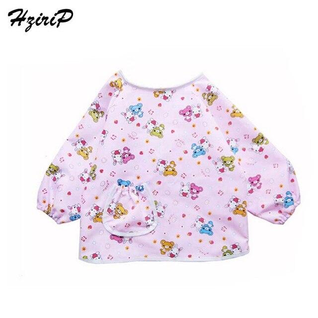 HziriP 2018 New Baby Bib Long Sleeve Waterproof Feeding Bib Clothing  Cartoon Pattern Bibs   Burp Cloths Fit 0-7 Year old 6e617a12dca9