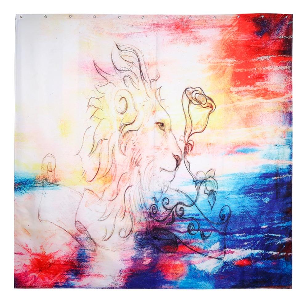 abstrakte malerei vorhang wasserdicht dusche vorhnge stoff kreative landschaft bad vorhang mit haken in abstrakte malerei vorhang wasserdicht dusche - Stoff Vorhang Dusche