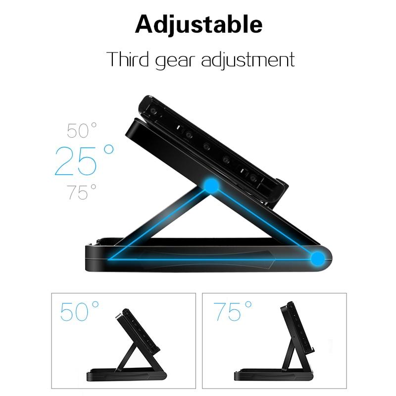 Image 5 - Data Frog Portable Desktop Stand Holder For Nintend Switch Mobile Phone Tablet Adjustable Fold Base Bracket for Nintendo Switch-in Stands from Consumer Electronics