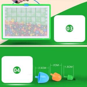 Image 5 - Lantiger 296pcs פטריות ציפורניים אינטליגנטי 3D משחקי פאזל DIY פטריות ציפורניים פלסטיק Flashboard ילדי צעצועים חינוכיים צעצוע