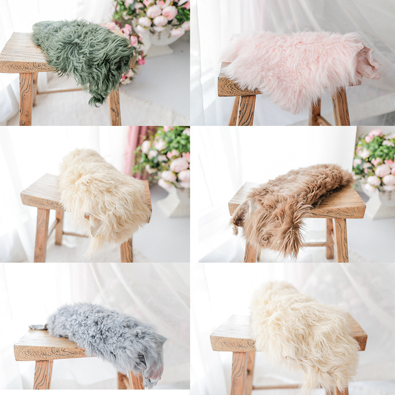 Newborn Photography Props Wrap High Quality Pure Wool Blanket Baby Photo Background Pad Flokati Newborn Studio Shooting Props