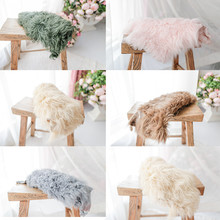 Newborn Photography Props Wrap High Quality Pure Wool Blanket Baby Photo Background Pad Flokati Studio Shooting