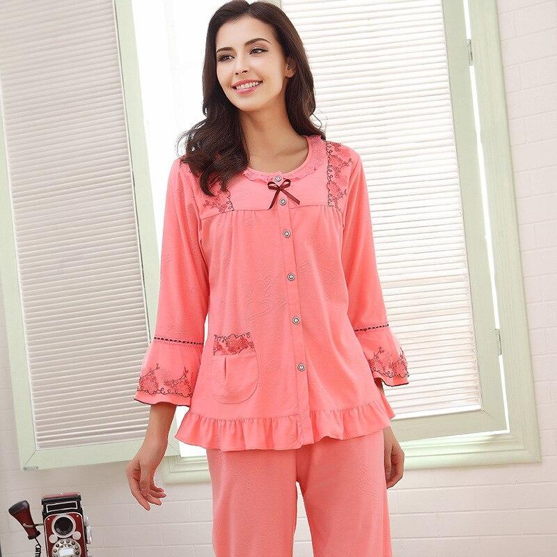 Nové dámské pyžama sady na spaní Měkké pyžamo dámské noční košile módní styl pyžama sady pyžama Femme Doprava zdarma