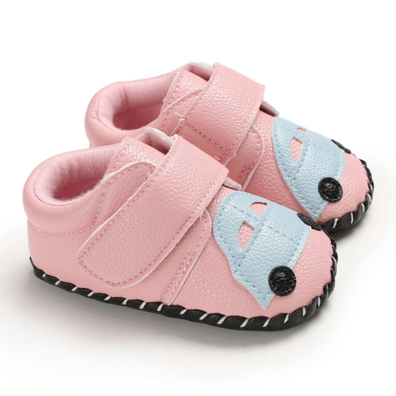 0-24Months Newborn Boys Girls Soft Shoes Antislip Baby Shoe First Walkers Moccasins Cute Car Skid-Proof Toddler Shoes