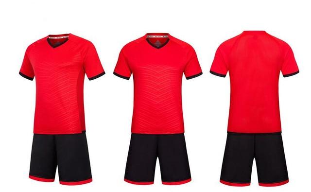 Whole Best Quality Football Jerseys 2016 2017 Soccer Custom Blank Team Red Mens