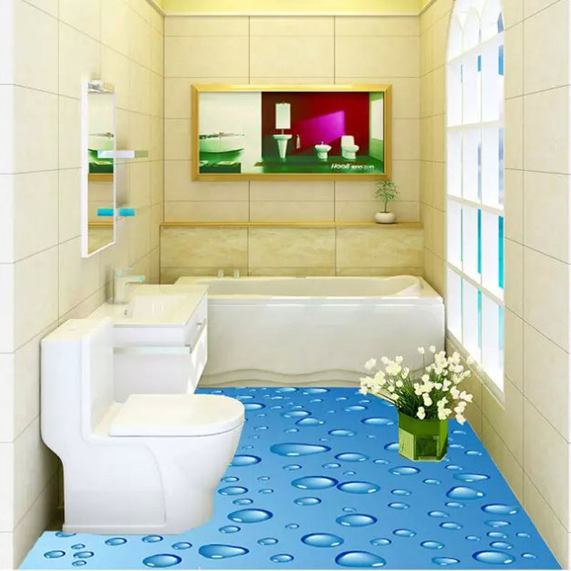 Nice 3D Innovation Fresh Garden Series Toilet Floor Tiles 60x60cm Ceramic  Bathroom Floor Tile 3D Scenery Floor/Wall Tiles On Aliexpress.com | Alibaba  Group