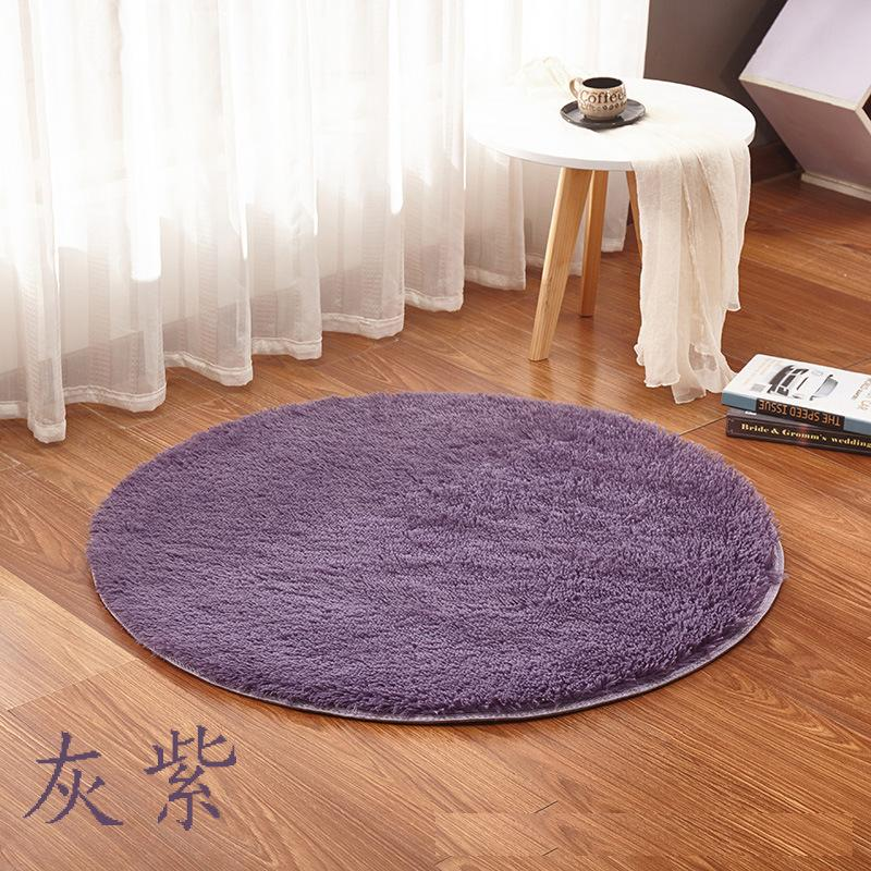 Pure color Round Rug Carpet Living Room bedroom Carpet Kids Room Decorative Rugs Soft and Fluffy Warm, custom size free shipping