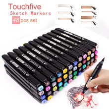 TOUCHFIVE 30 36 48 Colors Dual Handle Sketch Marker Pen Alcoholic Oily Based Markers For Manga Anime Comic Design Drawing Pen