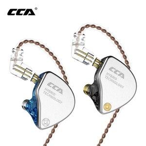 Image 1 - Akオーディオcca CA4 1BA + 1DDハイブリッド2PINで耳イヤホンハイファイdj monitoランニングスポーツイヤホンヘッドセットインナーイヤー型ヘッドホンC10/C16