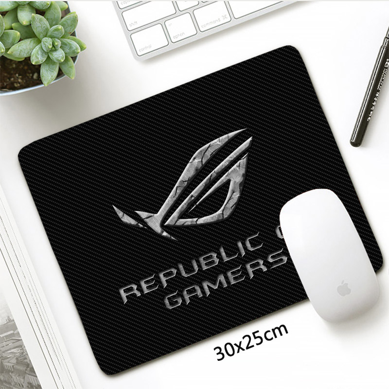 Republic Of Gamers Mousepad 30x25cm ASUS Gaming Mouse Pad Small Size Rubber  Durable Locking Edge Office Mat PC Accessories