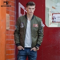 Kenntrice Spring Fashion Embroidered Bomber Jacket Men Ma-1 Flight Jacket Air Force Army Green Navy Baseball Jacket High Quality