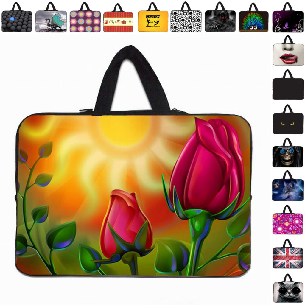 "Many Designs Fashion Bag Handle Cover Cases Cover Pouch For 12"" 12.1 11.6 Laptop Dell Acer Asus Macbook Air 11 Computer Notebook"