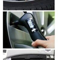 New ArrivalFlashlight Tire Gauge Emergency Tool Digital LCD Car Tyre Tire Pressure Gauge Meter Hammer For