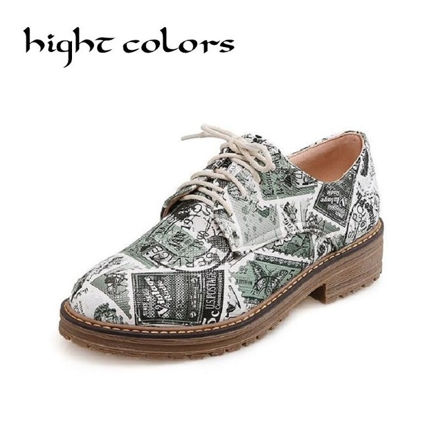 Jaune + Vert PU En Cuir Mocassins Ballerines Femme Vintage Timbre Designer  Chaussures Bout Rond Creepers 867b3dd71643