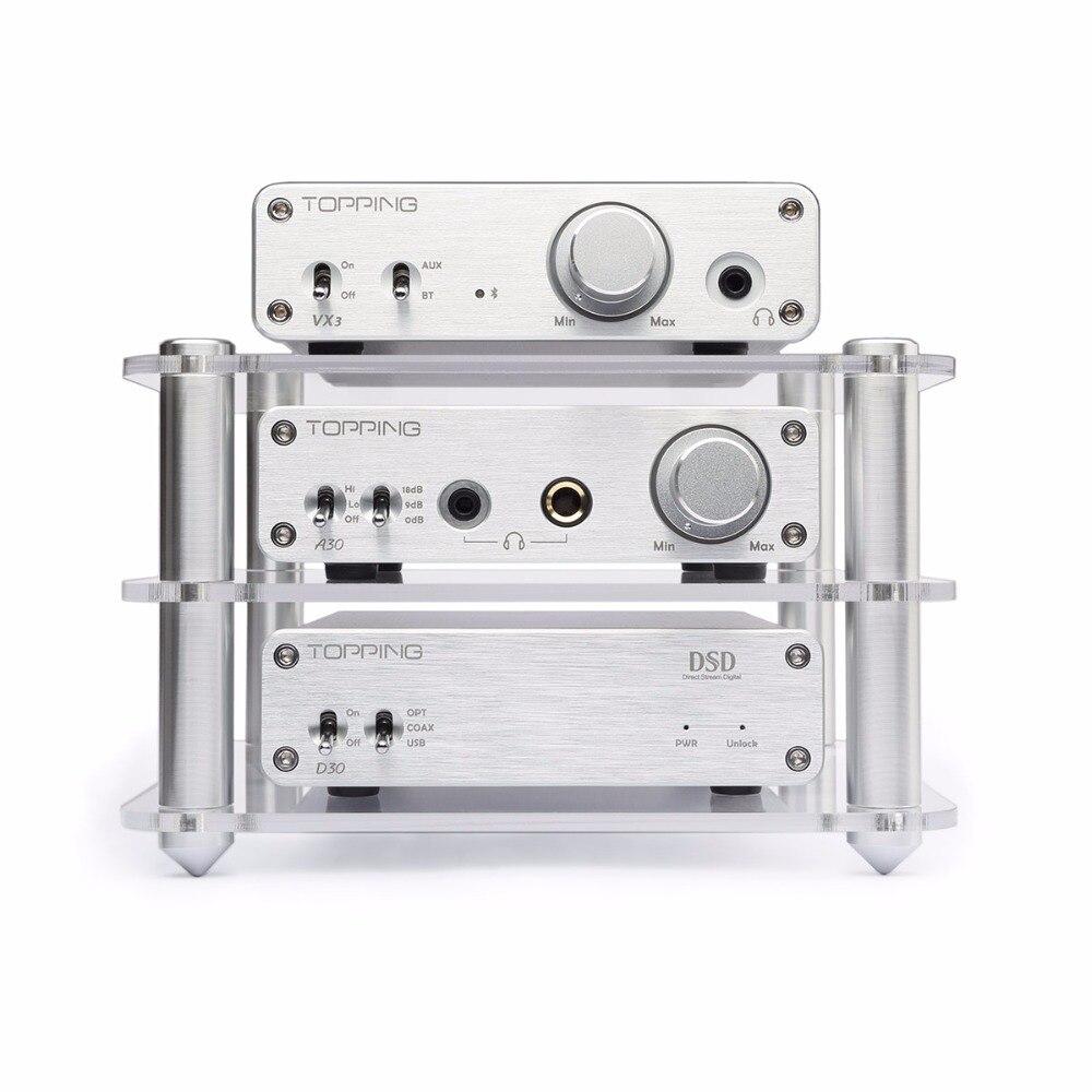 Topping D30 DSD USB DAC Decoder +A30 Headphone Amplifier + VX3 Bluetooth Power Amplifier Set Support USB DAC Home Amp Hifi Set