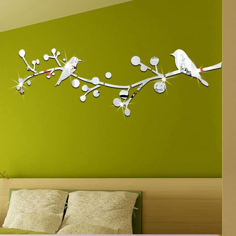 achetez en gros mur miroir autocollant en ligne des grossistes mur miroir autocollant chinois. Black Bedroom Furniture Sets. Home Design Ideas