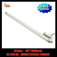 40inch/1000mm (1M) stroke length 12v/24v DC linear actuator, 1000N/ 225lbs force electric linear actuator Free Shipping!