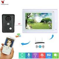 Yobang Security White 7 Inch Monitor Wifi Wireless Video Door Phone Doorbell Video Entry Door Intercom KIT APP Remote Control