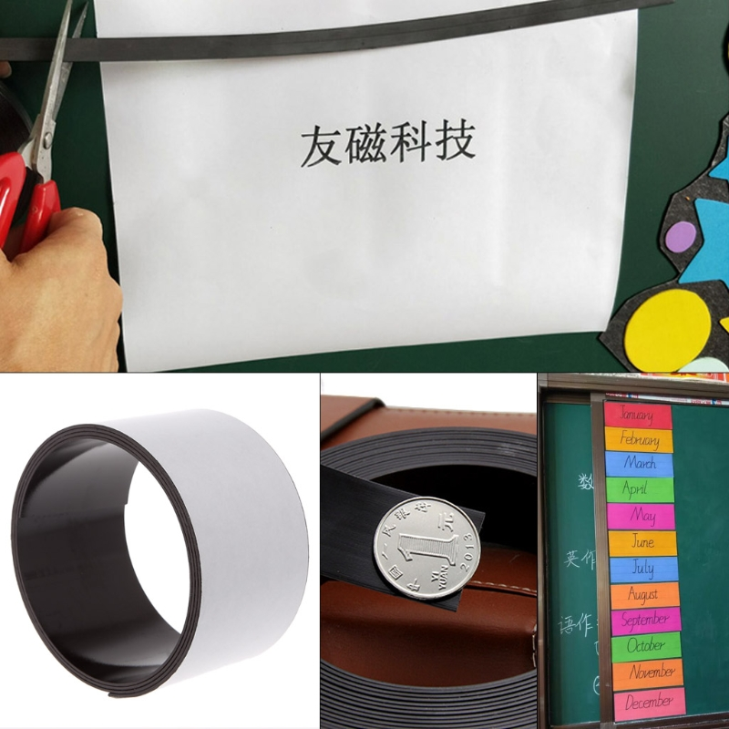 Free delivery 1m/3ft Long Self Adhesive Flexible Rubber Magnetic Tape Craft Magnet Strip 50mm free shipping flexible magnetic strip rubber magnet width 1pcs 297x210x1mm wothout adhesive