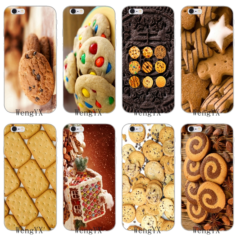 delicious food biscuits chocolate slim silicone soft phone case for iphone 4 4s 5 5s 5c