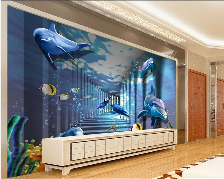 3d wallpaper custom photo non woven mural wall sticker 3d for Custom photo mural