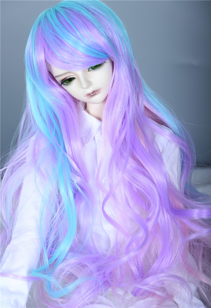 1 3 8-9 Bjd Wig Dal Pullip SD LUTS MSD DOD DOC DD Dollfie Doll wigs gold curl