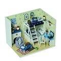 Бесплатная доставка Подарков Новый Бренд DIY Кукольные Домики Деревянные Кукольный Дом Мужской кукольный Детские Игрушки Мебель Миниатюрный ремесел
