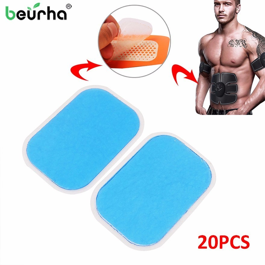 20PCS EMS Trainer Gel Pad Replacement Muscle Stimulator Gel Sheet Fitness Weight Loss Dedicated Gel Pads For ABS Stimulator