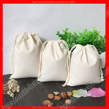 (100pieces/lot)plain cotton bags small,logo bag service available