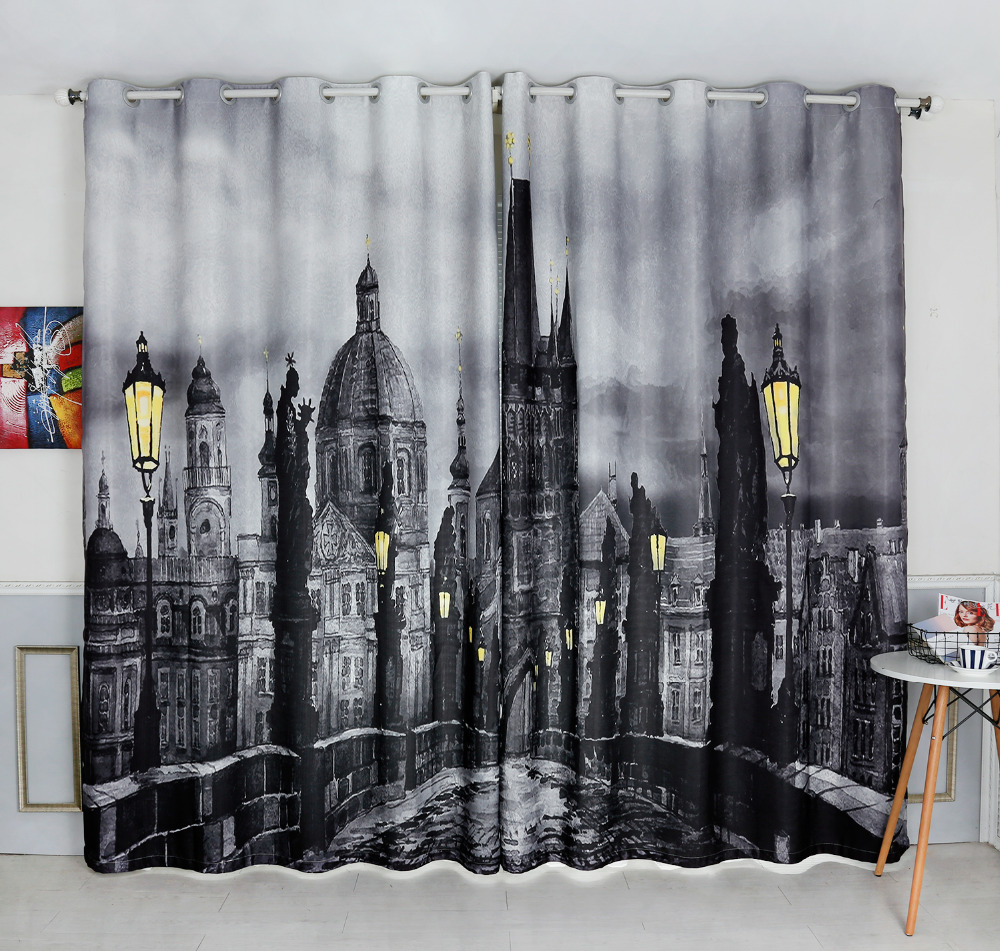 Patterned Curtains For Living Room Black Patterned Curtains Promotion Shop For Promotional Black