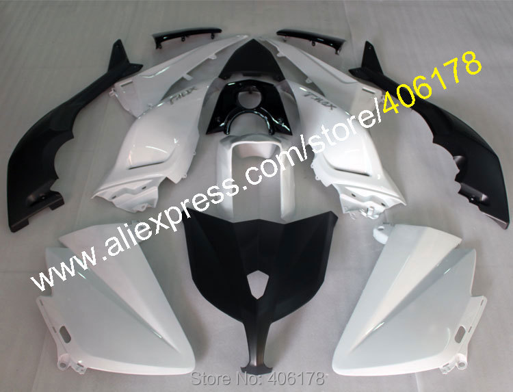 Hot Sales,Body Kit For Yamaha TMAX 530 2012 2013 2014 T-MAX 530 TMAX530 White Black ABS Motorbike Fairing (Injection molding) hot sales cheap price for yamaha tmax 530 2012 2014 t max 530 tmax530 matte black sport bike abs fairing injection molding