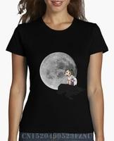 2018 السعر مفاجأة القمصان النسائية مونونوكي القمر المحملات قصيرة الأكمام الطباعة القطن 3d فتاة الملابس
